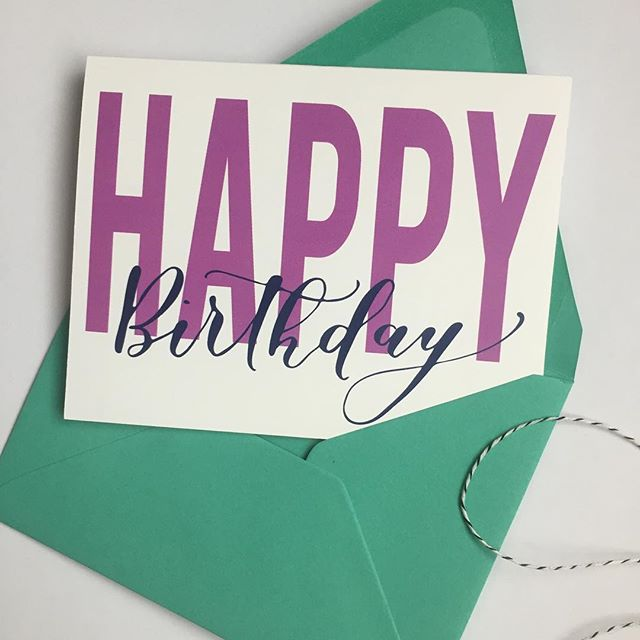 You too can be prepared with a card on-the-ready. New boxed sets for birthday or anniversary, colors are completely customizable and mix and match delightfully with our new envelope colors!
