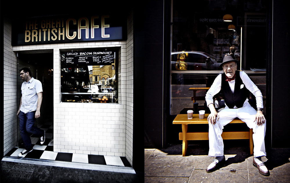 Street Entertainer and British Cafe