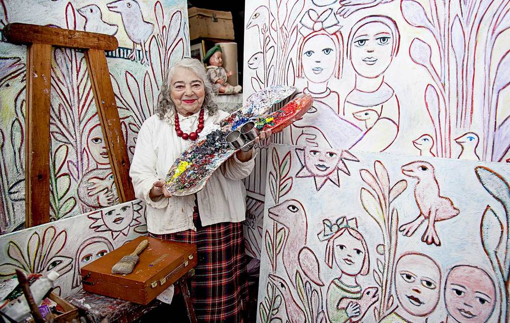 Mirka Mora in her home and studio.