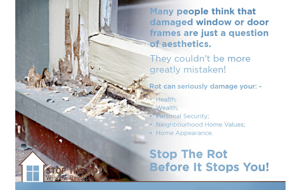 The excavation process that Stop the Rot undertakes reveals the level of damage a window or door frame can hide.