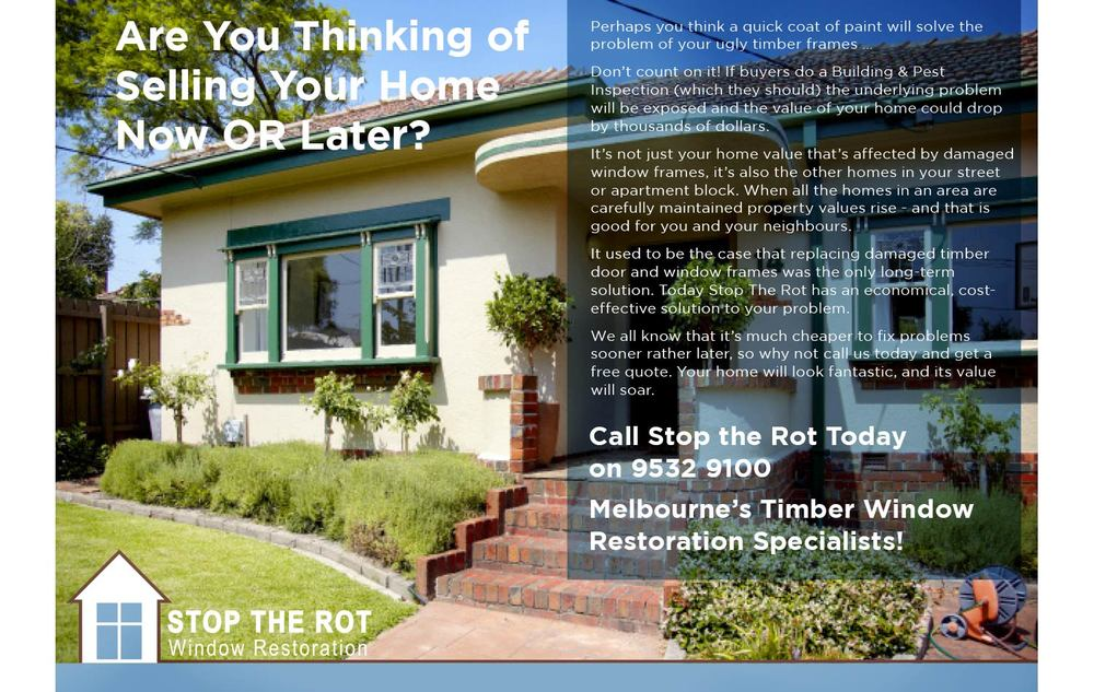 Stop the rot wanted to showcase a typical house that they would work on to restore the window frames and doors to maintain the integrity and value of the property.