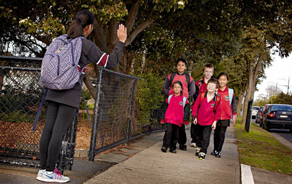 Walk to school day promotion