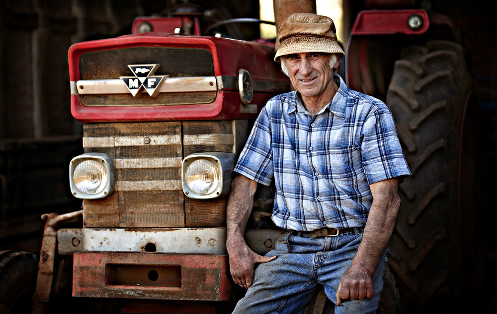 Bruno Battaglia of Keilor, a Market Gardener whom has supplied Melburnians with fresh fruit and veggies for many decades.