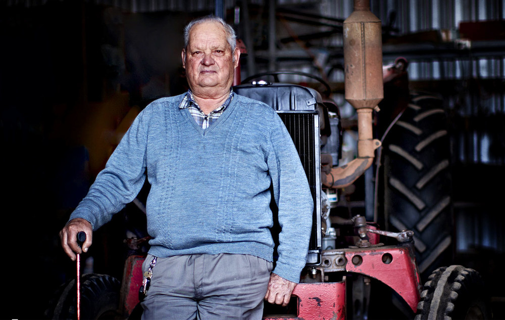Nick Korionis is a retired Keilor Market Gardener who still gets down into his shed every day to plow his own personal veggie patch.