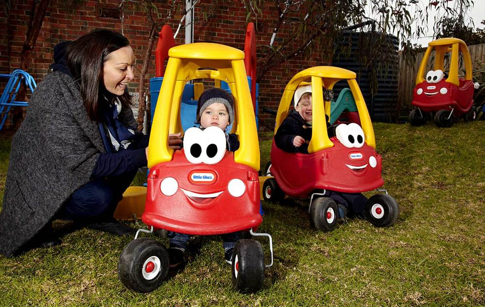 Mums have as much fun as their children at the Murrumbeena Church Daycare Playgroup.