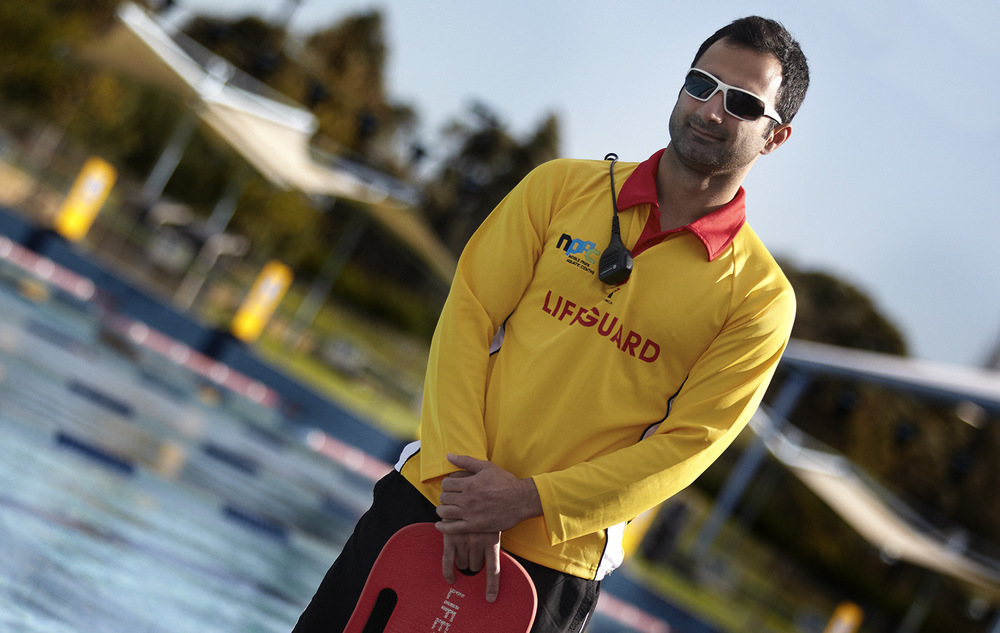 Lifeguard at the NPAC centre in Dandenong.