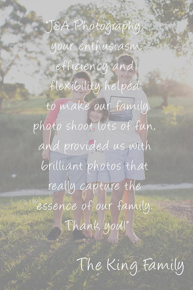 Family Photography Testimonials