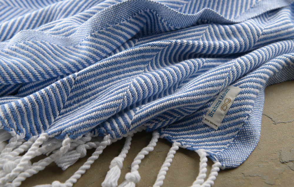 Cotton_Baja_Blue_Herringbone_Throw_Detail.jpg