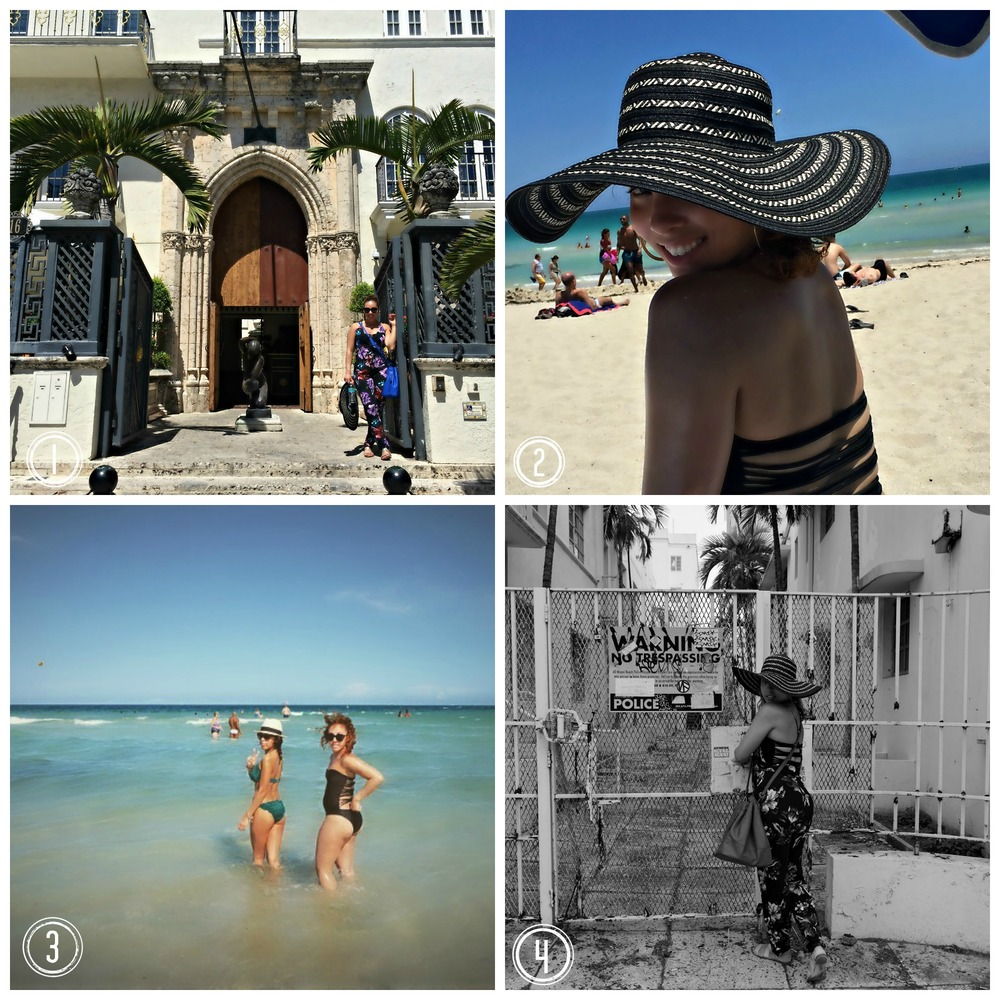1.  Versace, Versace...this place gets me every time.  2.  Love my sun hat.  Perfect for that Miami sun.  3.  That water was everything.  4.  No trespassing unless you're me. :)
