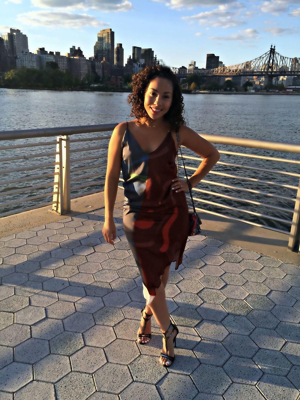 Zara Slip Dress (old) | Shoemint T-strap Stilettos (similar  here ) | H&M Snake Print Purse (old)