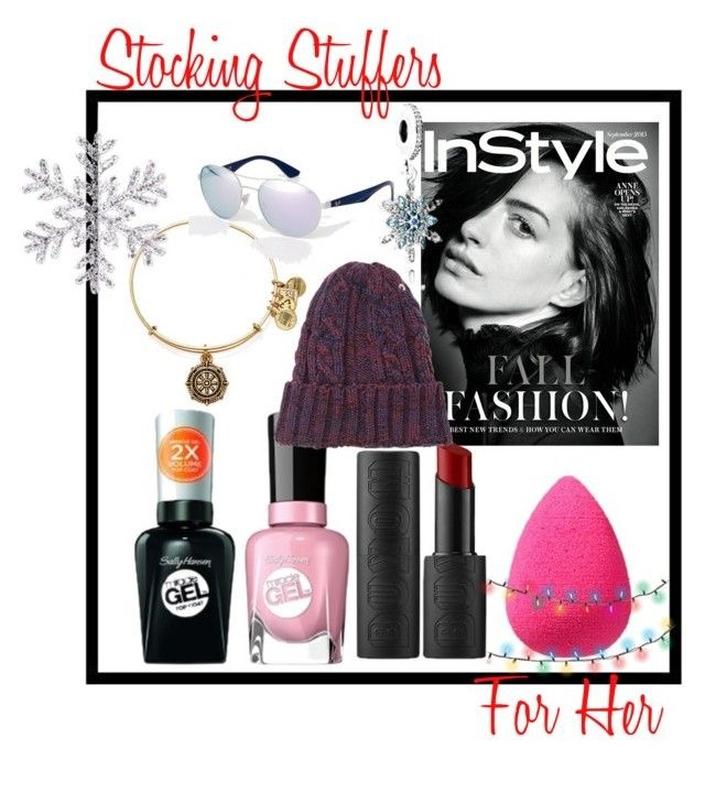 Alex and Ani Take the Wheel Charm Bangle  |  Ray-Ban Sunglasses  |  Pandora Snow Flake Charm  |  Instyle Magazine Subscription  |  Forever 21 Beanie  | Sally Hansen Miracle  Gel Nail Polish  and  Top Coat  |  Buxom Bold Gel Lipstick  |  The Original Beauty Blender