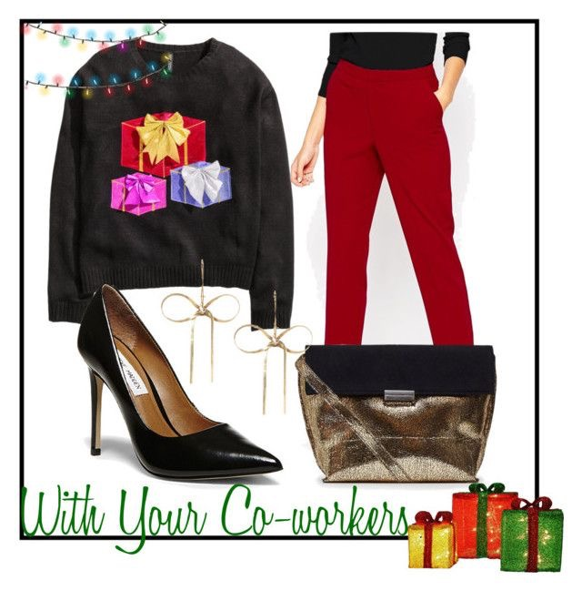 Sweater  |  Cigarette Pants  |  Pumps  |  Envelope Clutch  |  Bow Earrings