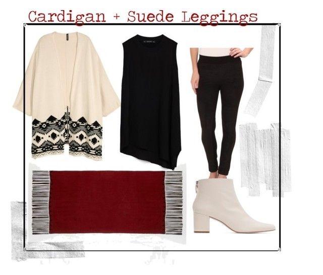 Jacquard-knit Cardigan  |  Asymmetrical Hem Blouse  |  Blank Tassel Detail Scarf  |  Leather Ankle Booties