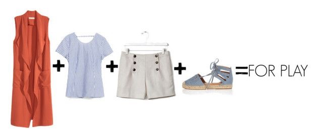 H&M Long Vest  |  Zara Blouse With Knot at the Back  |  Banana Republic High-Waist Sailor Short  |  Rivera Island Blue Tie-up Espadrilles  (last seen  here )