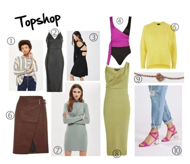 1. Buffalo Over-sized Shirt | 2. PU Plunge Neck Midi Dress | 3. Strap Back Fit and Flare Dress | 4. Colourblock Wrap Bodysuit | 5. Pointelle Rib Crew Neck Jumper | 6. Snap Wrap PU Midi Skirt | 7. Twist Front Bodcon Dress | 8. Slinky Midi Dress | 9. House of Freedom Skull Choker | 10. Diana Heeled Sandals