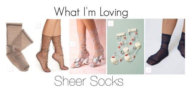 DARNER Fishnet-print mesh ankle socks |  LIRIKA MATOSHI Starry Tulle Socks | Hansel From Basel Heartfelt Sheer Crew Socks  | Darner Dots Mesh Socks
