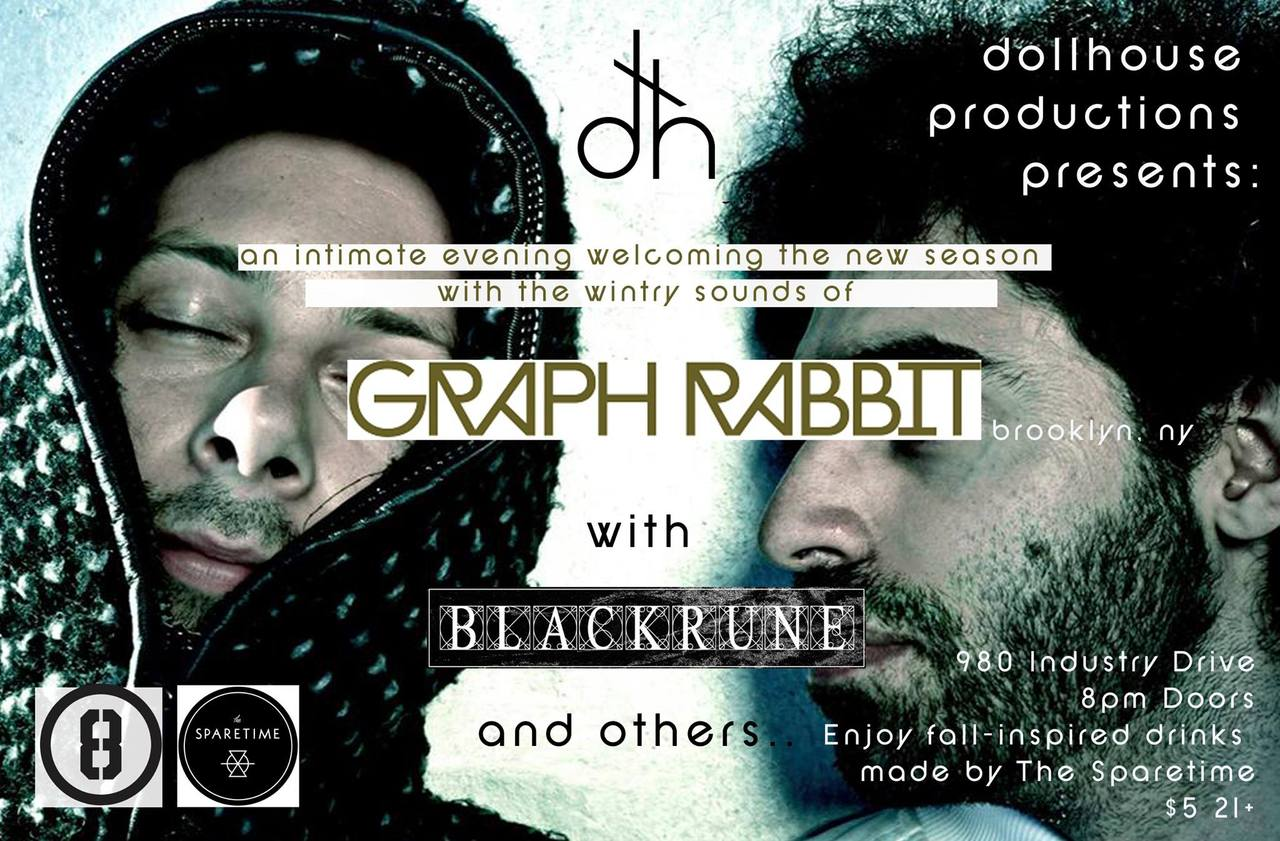 THIS FRIDAY, October 4th, there's a very special treat for Savannah, Blackrune will be playing at the ever-great Dollhouse Productions with Graph Rabbit (Brooklyn). You'll not want to miss this! There will also be drinks to celebrate the change of season from the fine folks at Sparetime! For more information: here.