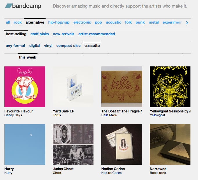 Nadine Carina's self-titled cassette (out on Furious Hooves 4/09) was one of the best selling alternative tapes on bandcamp this week! Awesome! Congrats Nadine! Buy the tape here: Furhoof Download it digitally here:  Nadine | Amazon | iTunes