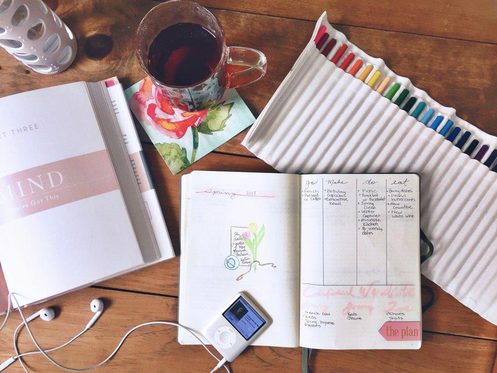 Spring Planning. Bullet Journal. 2017