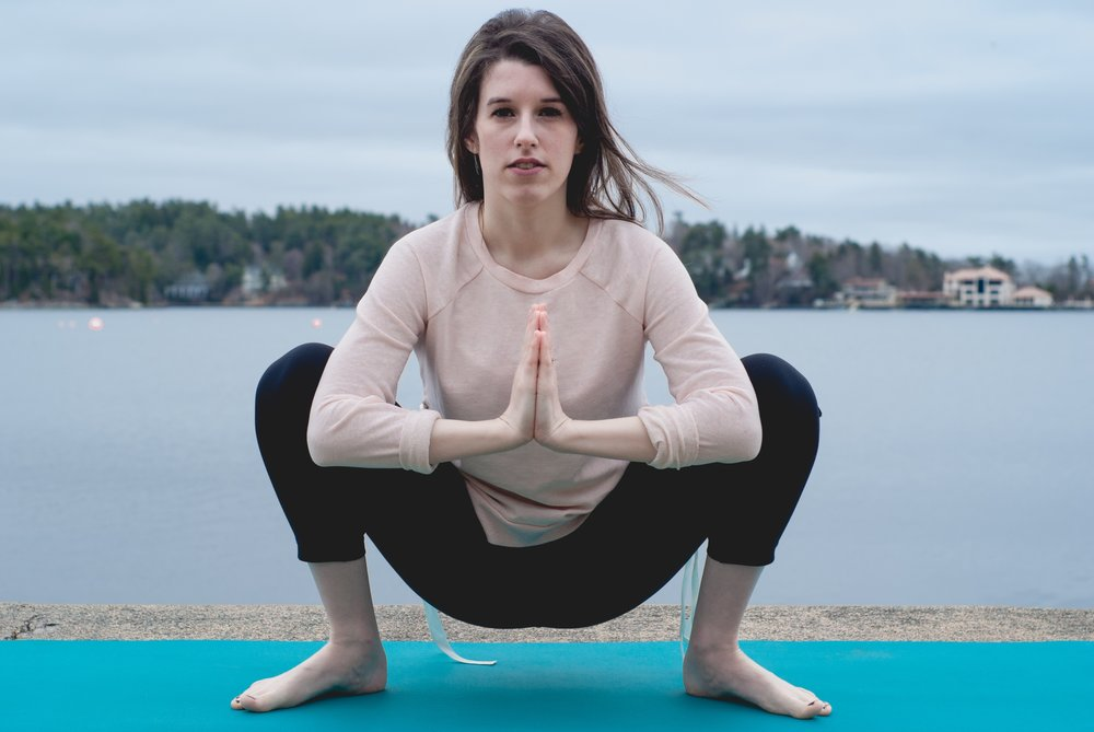 Malasana Pose / As I like to call it : the natural birthing pose.
