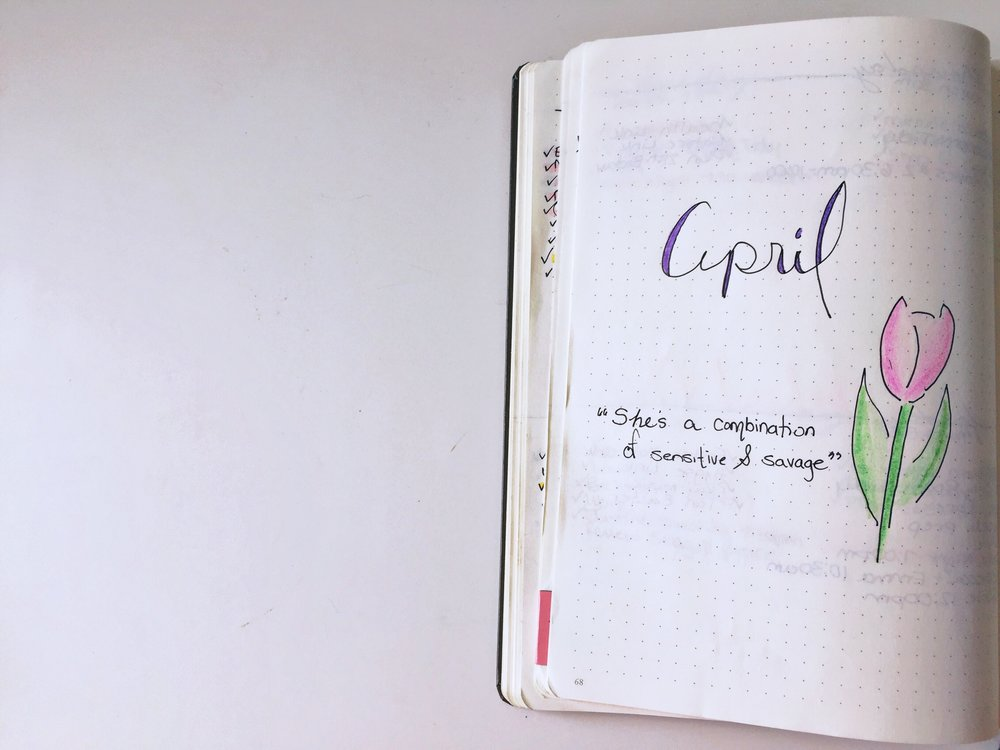 Month of April Intro Page.