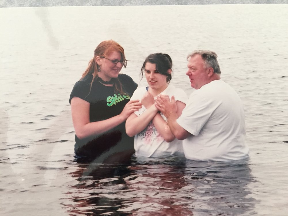 My Baptism,  I will never forget this.  Lisa Francis Klassen & Paul Francis
