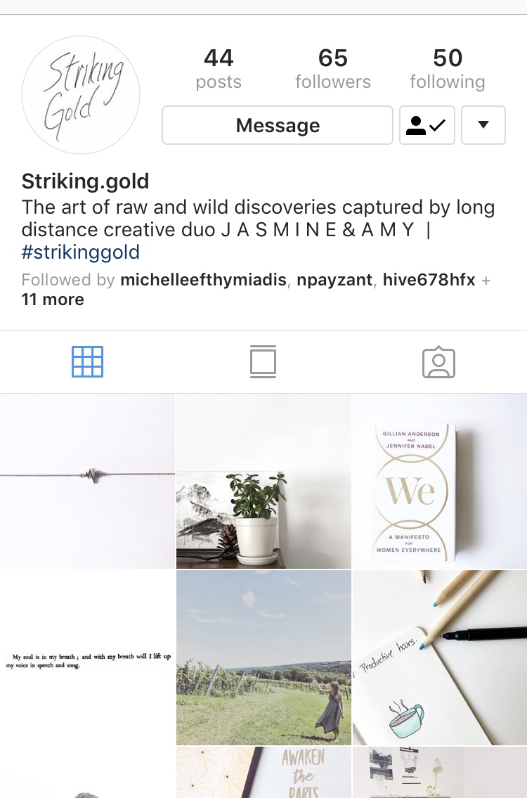 INSTAGRAM : #strikinggold