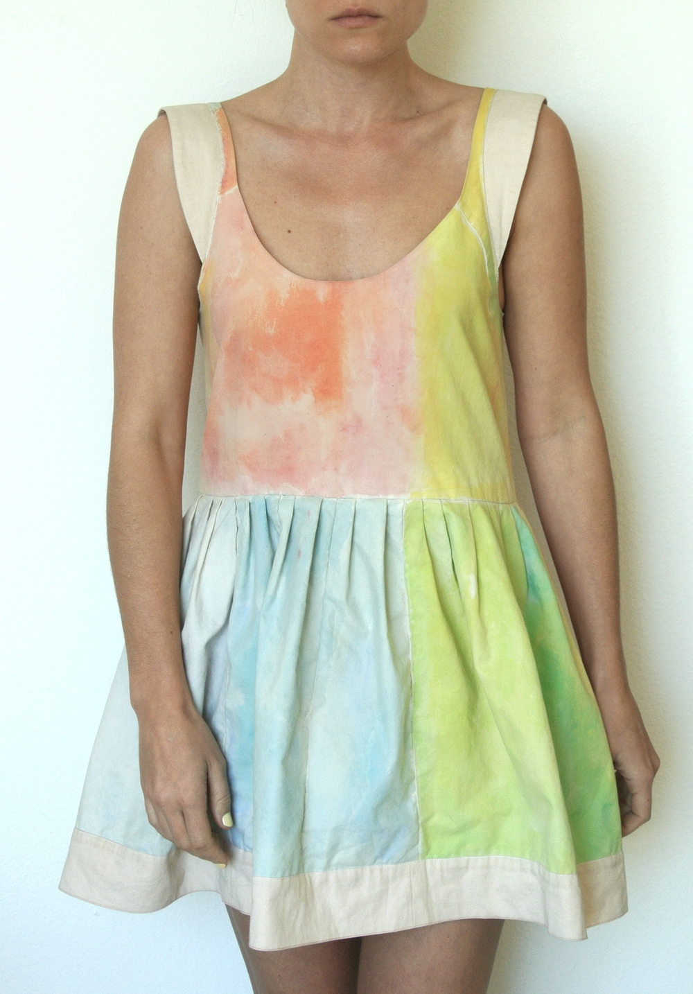 watercolour dress