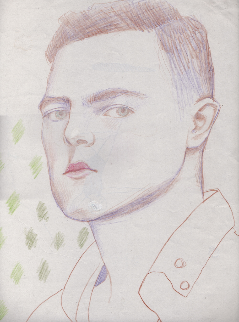 "UNTITLED    colored pencil on paper, 12"" x 18"", 2008"