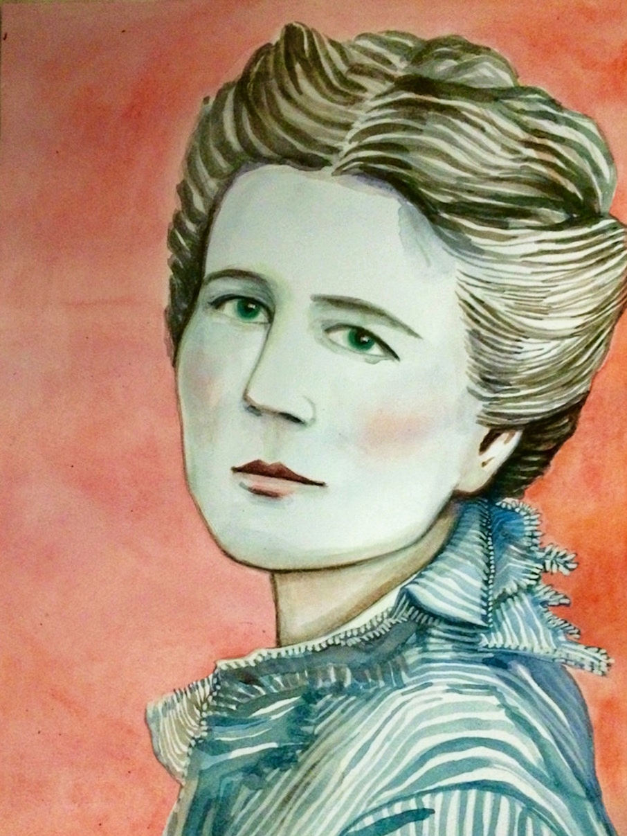 VICTORIA CLAFLIN WOODHULL    watercolor and gouache on paper, 9 x 12 in., 2016
