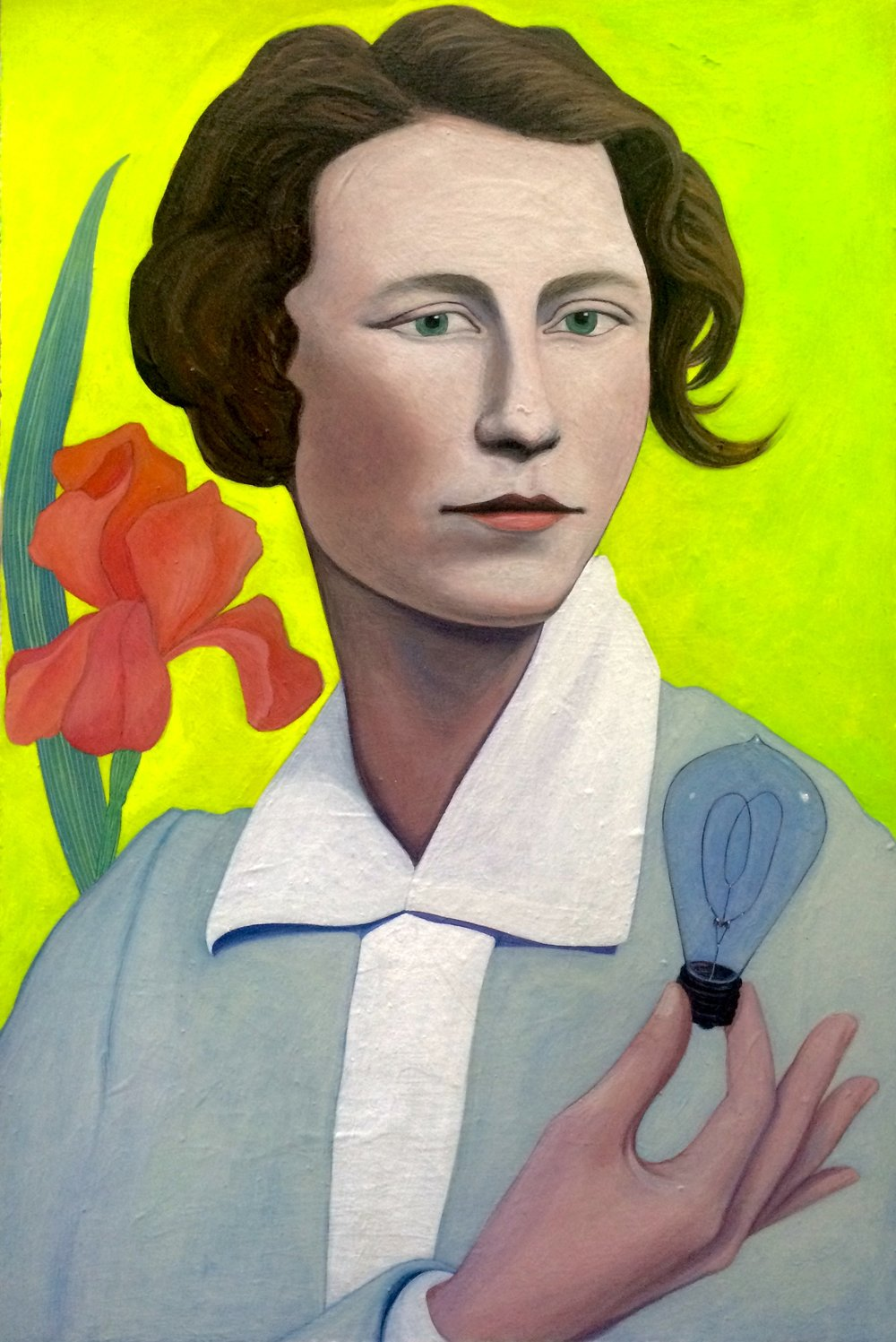 (sold)    ILLUMINATIONS / EDNA ST. VINCENT MILLAY    acrylic, watercolor, gouache on board, 12 x 18 in., 2016
