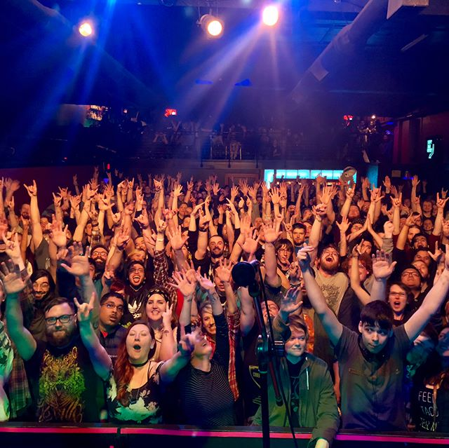 Whip it, then Flip it // . . What an electrifying bunch you all were. Big ups to everyone for making our surrogate hometown show really spectacular.  #portland #closureinmoscow #thefinger #crowd #hashtagsarestupid