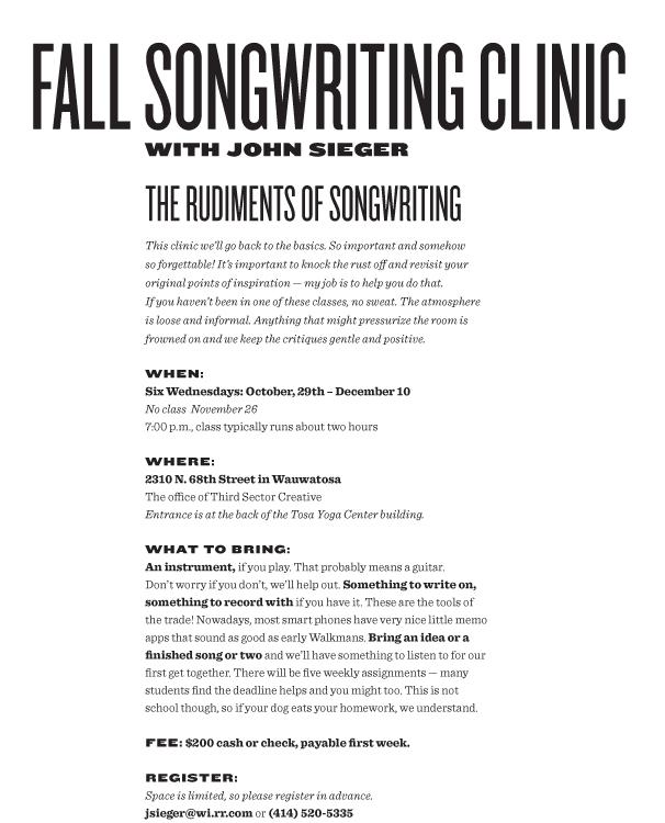 Fall Clinic 2014