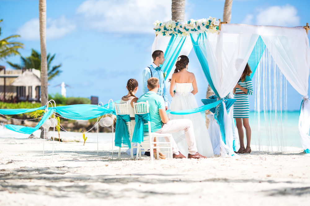 Ocean Blue And White Beach Wedding Val S Weddings