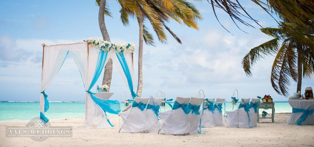 White And Turquoise Punta Cana Beach Wedding Weddings In
