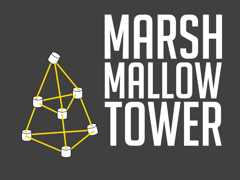 Image result for marshmallow tower