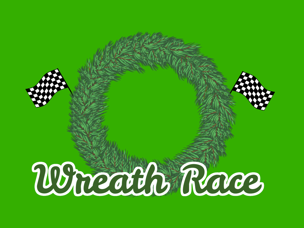 Christmas game wreath race youth group collective