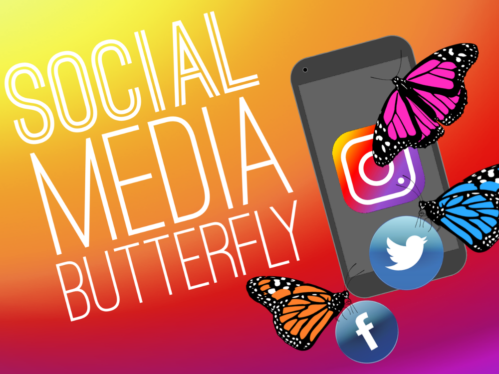 social media butterfly youth group games SD
