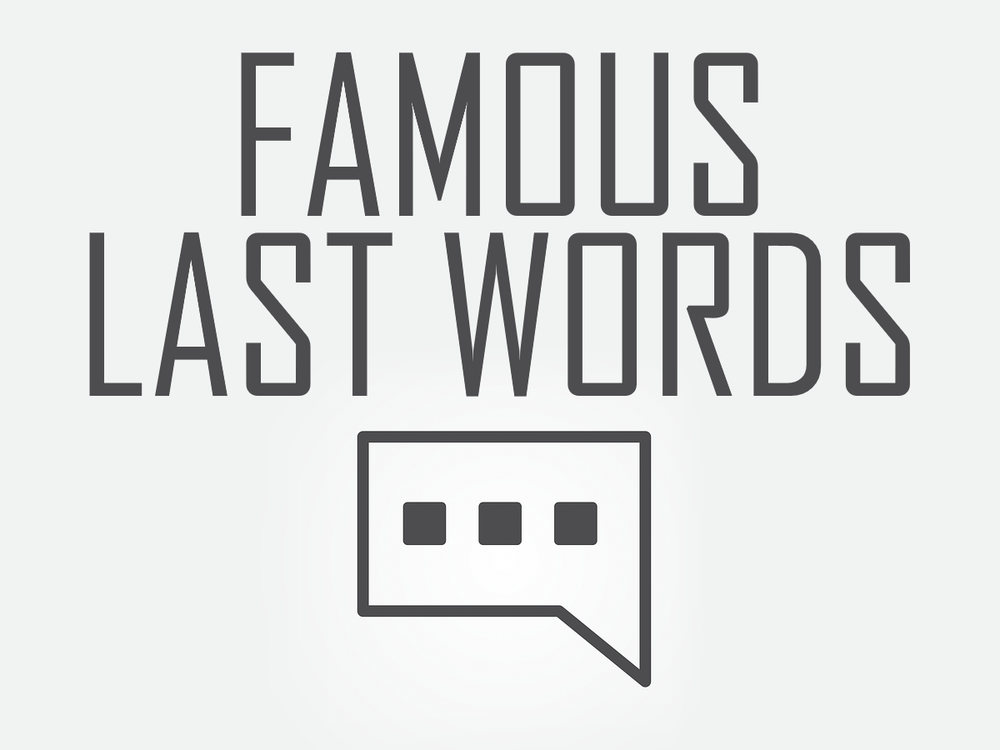 Famous Last Words SD Youth Group Game