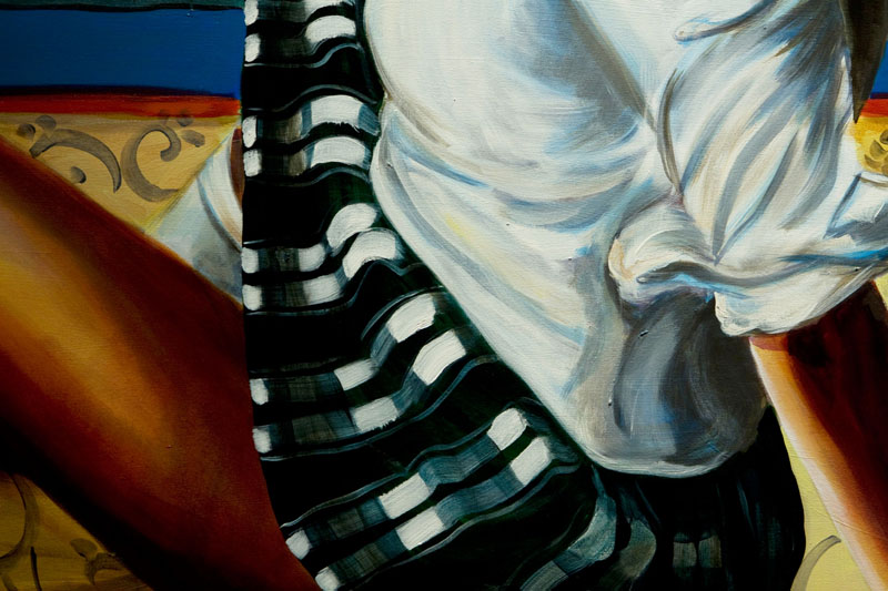 Woman Lifting Up Her Skirt (Detail)