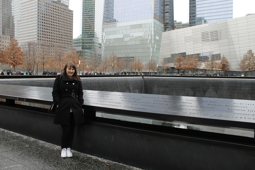 On our first day, Leanne and I went to the 9/11 memorial. It was such a moving experience and I wasn't expecting the emotions that were going to arise. I felt wrong smiling in the above photo, but I don't look good doing anything else, so please forgive me!