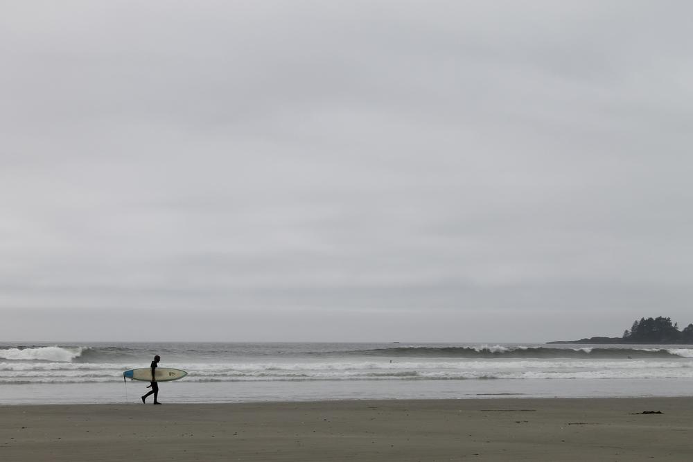 Lone surfer.