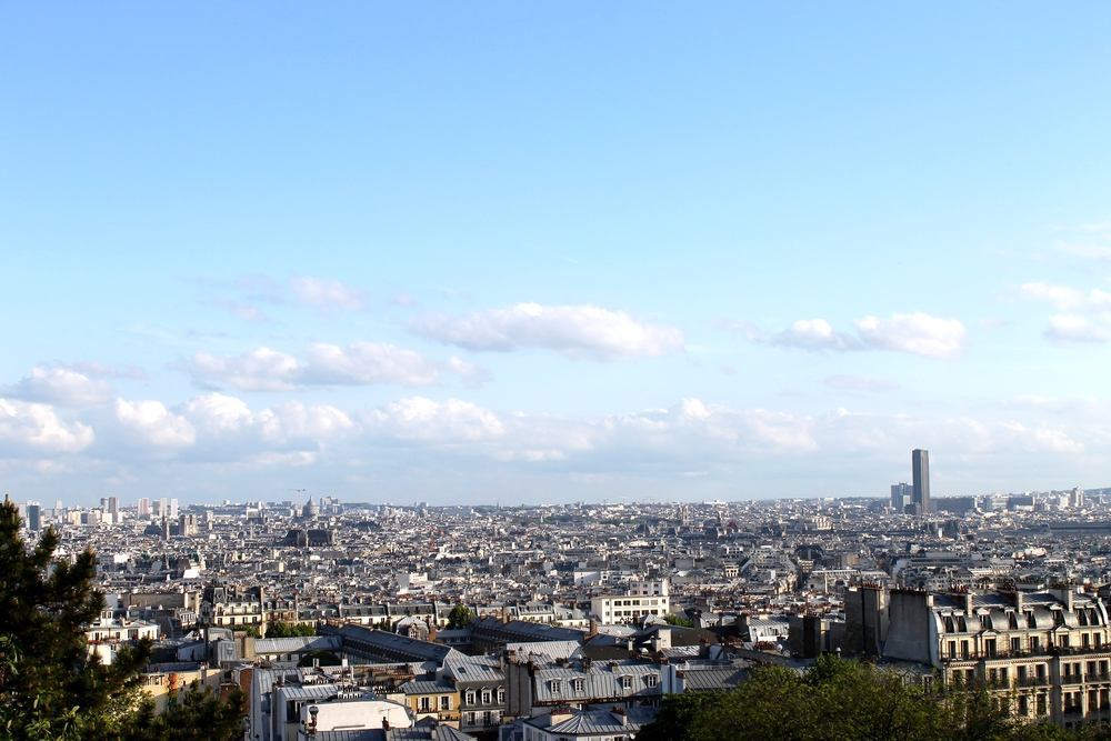 We stayed at Hotel Sofia, in the 18th arrondissement, near Montmartre. We went for a walk after dinner and discovered this view from the Sacre Coeur.