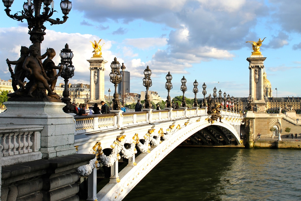 Our last evening was bitter sweet. This is the Pont d'Alexandre and it was spectacular. The architecture in Europe is insane (in a good way hehe).