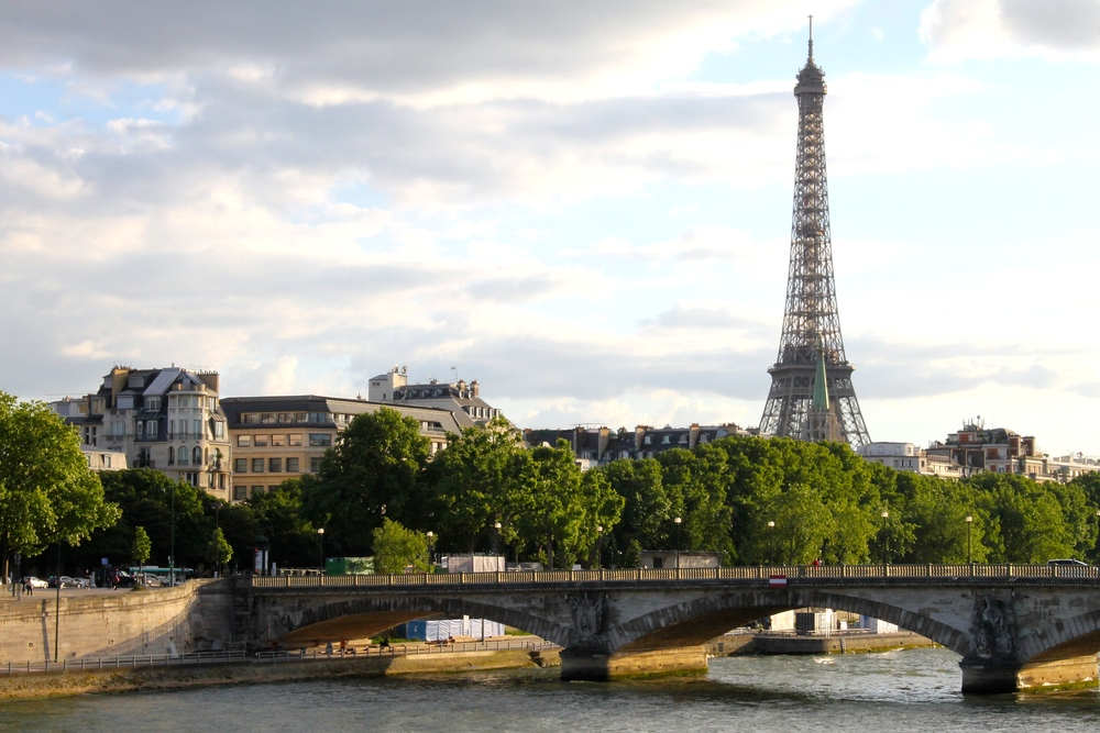 View of the Eiffel Tower from the Pont d'Alexandre. Sigh.