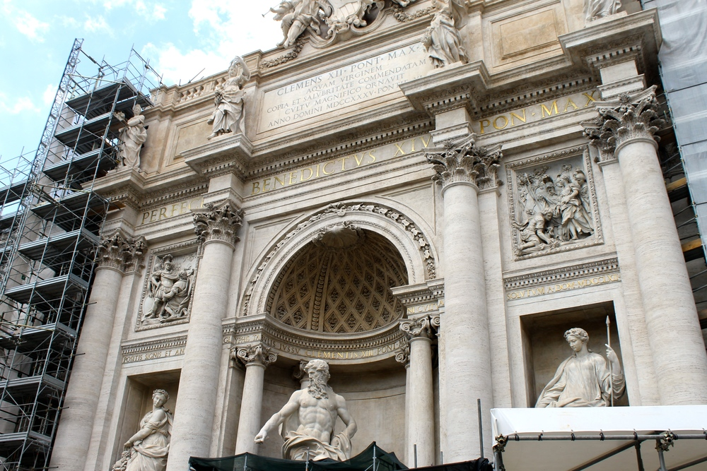 The Trevi Fountain. Unfortunately, they were working on it while we were there. Still stunning though!