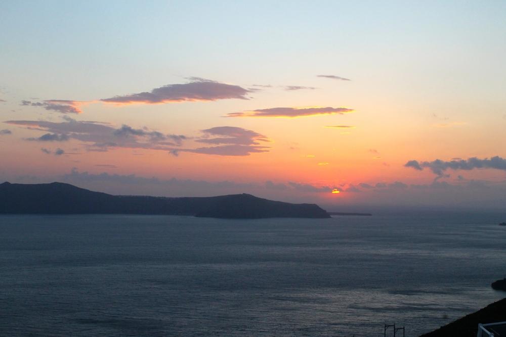 The first Santorini sunset....