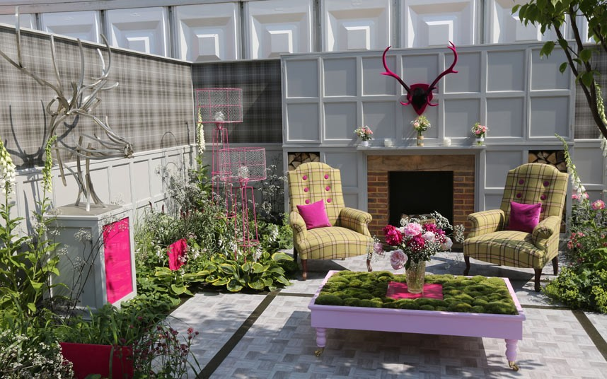 Detail Collective | Chelsea Flower Show 2014 | Fabric Garden - Fresh Gardens | designed by Dealinlock garden Design) Photo: Martin Pope for The Telegraph