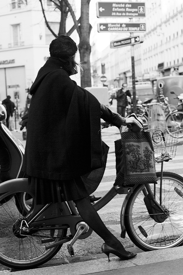 Detail Collective | On the Street...How to Ride A Bike with Grace, Paris | Images via The Sartorialist