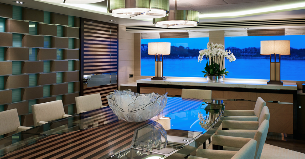 Detail Collective  | Luxury Yacht Interiors-Galactica Star | Images via  Bannenberg & Rowell